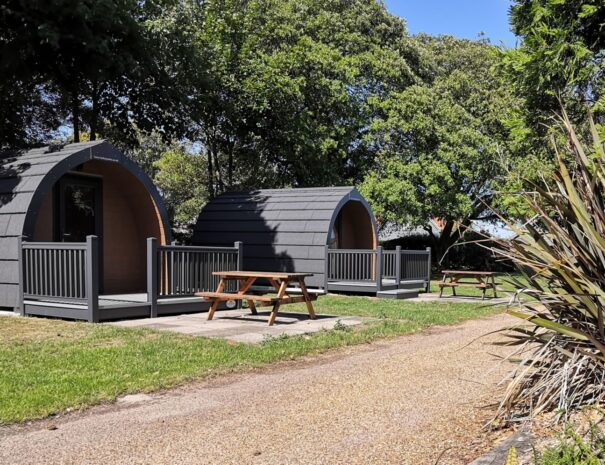 Hire camping pods on the Suffolk Coast.