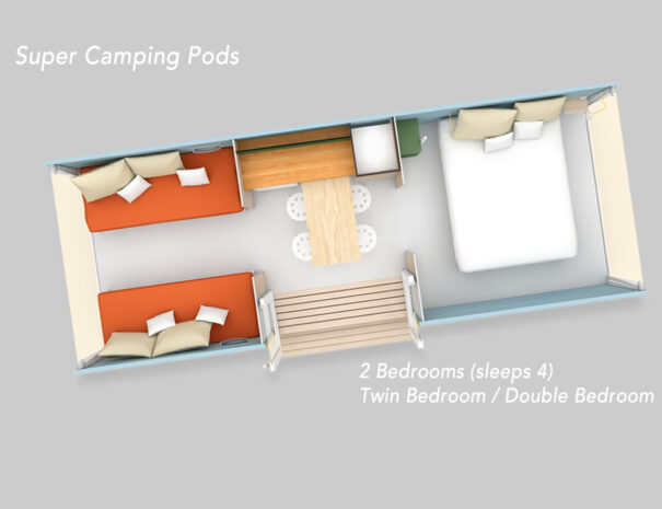 Super camping pods at Beach View Holiday Park Suffolk